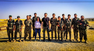 OLS producers Helma Adde and Jordan Allott film members of the Syriac Military Council (MFS) in Al Malakeya, Syria.